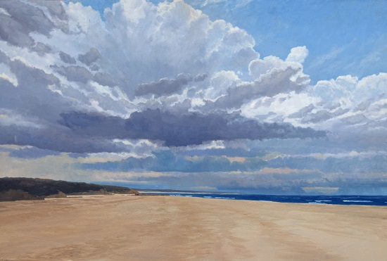 South Coast beach painting